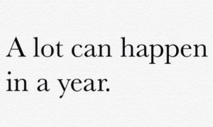A lot can happen